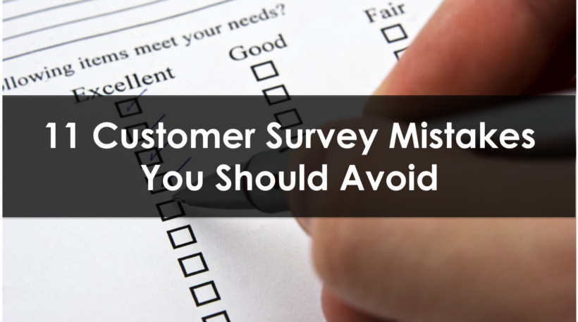 Customer Survey Mistakes