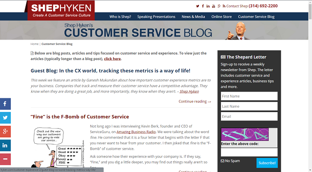 High Quality This Blog Is Owned By Customer Service And Experience Expert Shep Hyken. He  Is A New York Times And Wall Street Journal Bestselling Author And The Host  Of ...