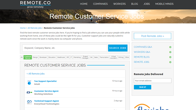 customer service website