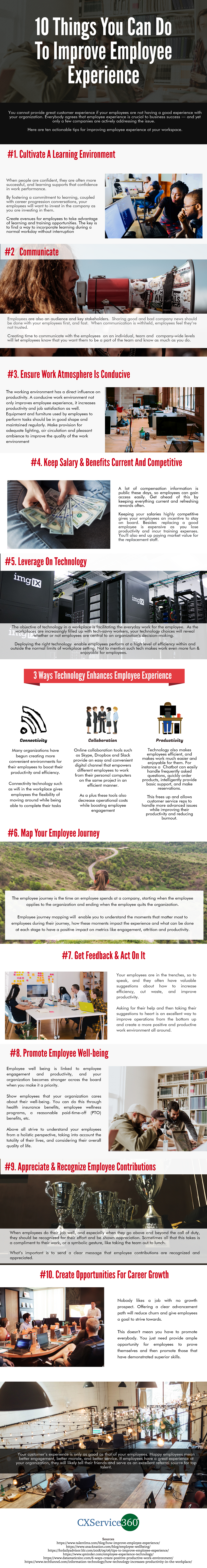 Infographic - Improve Employee Experience